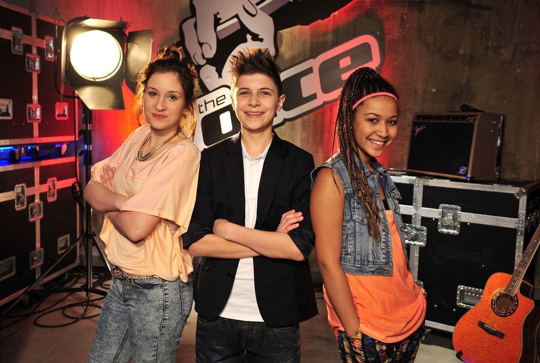 The-Voice-Kids-Stf02-Epi06-Naomi-Lukas-Selma-80-SAT1-Andre-Kowalski - Bildquelle: SAT.1/Andre Kowalski