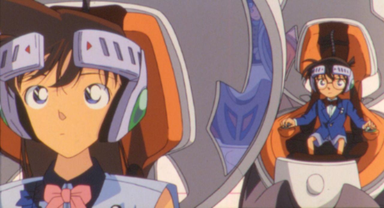 Ein Virus mit dem Namen Arche Noah hält die Kinder in der virtuellen Welt eines Videogames gefangen. Kann Conan (r.) das Spiel doch noch bezwingen u... - Bildquelle: 2002 GOSHO AOYAMA / SHOGAKUKAN - YTV - NTV - ShoPro - TOHO - TMS All Rights Reserved.