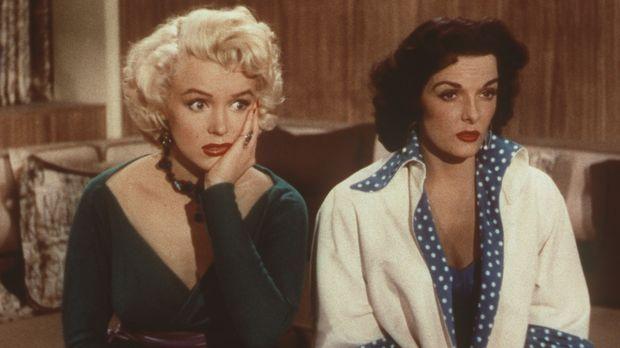 Lorelei (Marilyn Monroe, l.) und ihre Freundin Dorothy (Jane Russell, r.) hab...