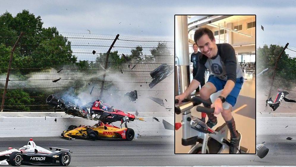 Robert Wickens macht nach dem Horror-Crash und seiner Lähmung den nächsten g... - Bildquelle: imago, twitter.com/robertwickens