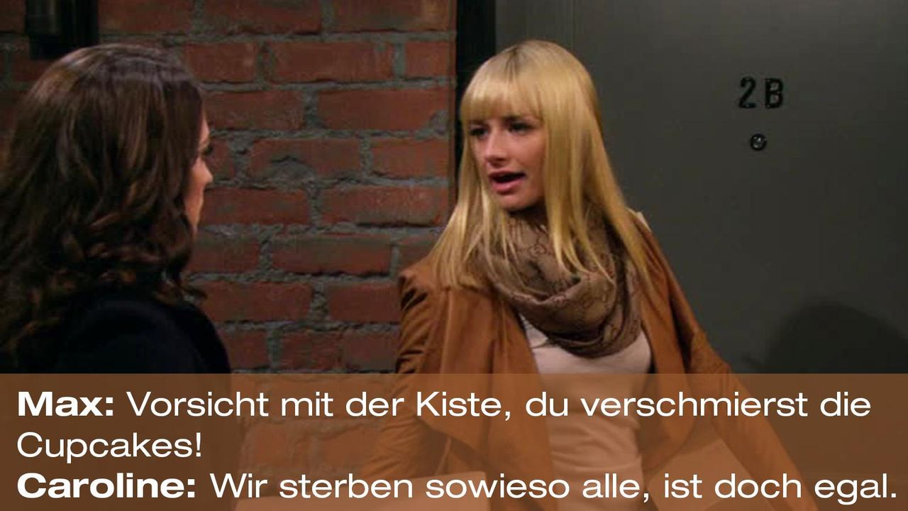 2-broke-girls-zitat-quote-staffel2-episode12-breite-weihnachten-caroline-sterben-warnerpng 1600 x 900 - Bildquelle: Warner Bros. International Television