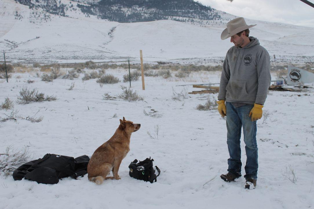 Während sie immer noch wichtige Bauten am Haus fertigstellen müssen, wird Jon (Foto) mehr und mehr bewusst, dass das Rancher-Leben sehr anstrengend... - Bildquelle: 2016,DIY Network/Scripps Networks, LLC. All Rights Reserved