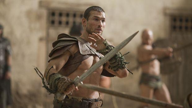 Durch Ilithyias Intrigen entpuppt sich ein Schaukampf für Spartacus (Andy Whi...