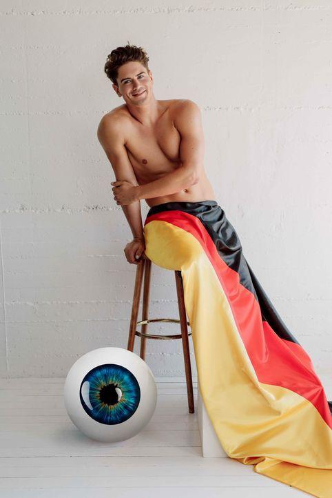 Dominik Bruntner Big Brother Auge - Bildquelle: SAT.1/Frank Zauritz