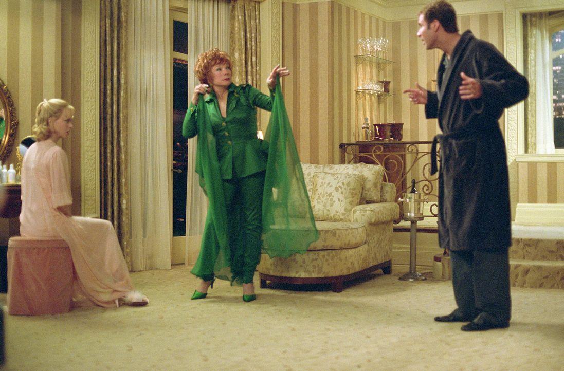 """Gemeinsam stehen Isabel (Nicole Kidman, l.), Jack (Will Ferrell, r.) und Iris (Shirley MacLaine, M.) für ein Remake der legendären Fernsehserie """"Ver... - Bildquelle: 2005 Columbia Pictures Industries, Inc. All Rights Reserved."""