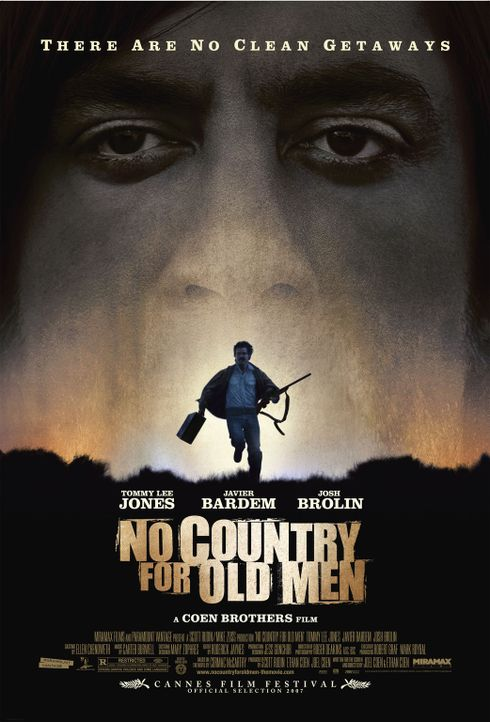 NO COUNTRY FOR OLD MEN - Plakatmotiv - Bildquelle: 2008 by PARAMOUNT VANTAGE, a Division of PARAMOUNT PICTURES, and MIRAMAX FILM CORP. All Rights Reserved.