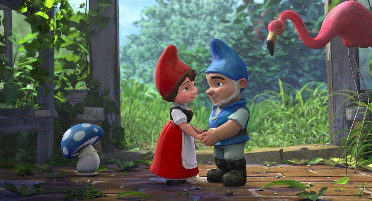 Seit eh und je sind die roten Gartenzwerge mit den blauen Gartenzwergen bis aufs Blut verfeindet. Hat die Liebe zwischen der rotbezipfelten Julia (l... - Bildquelle: Touchstone Pictures,   Miramax Film NY, LLC. All rights reserved