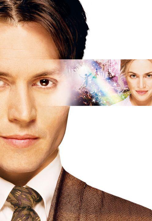 Wenn Träume fliegen lernen: Sir James Matthew Barrie (Johnny Depp, l.) und Sylvia Llewelyn Davies (Kate Winslet, r.) ... - Bildquelle: Miramax Films. All rights reserved