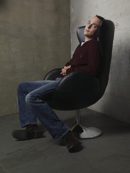 (3. Staffel) - Ein Intellektueller, der allerdings keine Ahnung von einem Leben neben der Physik und Videogames hat: Dr. Sheldon Cooper (Jim Parsons... - Bildquelle: Warner Bros. Television
