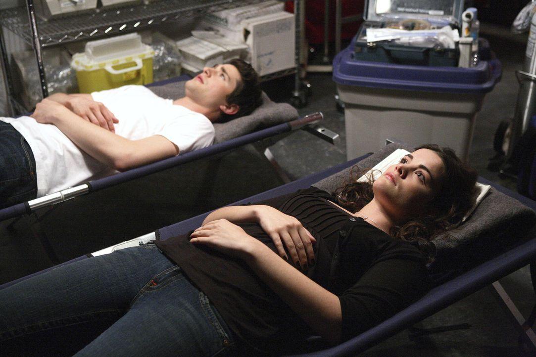 Kyle (Matt Dallas, l.) und Jessi (Jaimie Alexander, r.) eint ein gemeinsames Schicksal: Im Krankenhauszelt stellen sie fest, dass sie beide keinen B... - Bildquelle: TOUCHSTONE TELEVISION