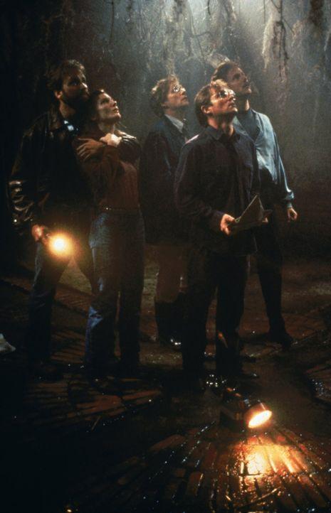 Im Angesicht des Todes (v.l.n.r): Ben (John Ritter), Beverly (Annette O'Toole), Bill (Richard Thomas), Eddie (Harry Anderson) und Richie (Dennis Chr... - Bildquelle: Warner Bros.