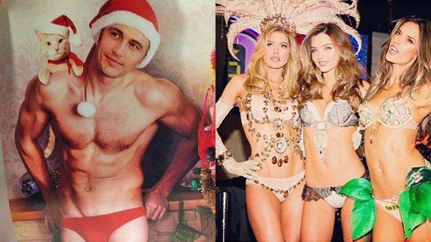 James-Franco-Miranda-Kerr - Bildquelle: instagram.com/jamesfrancotv (li); instagram.com/mirandakerr (r)