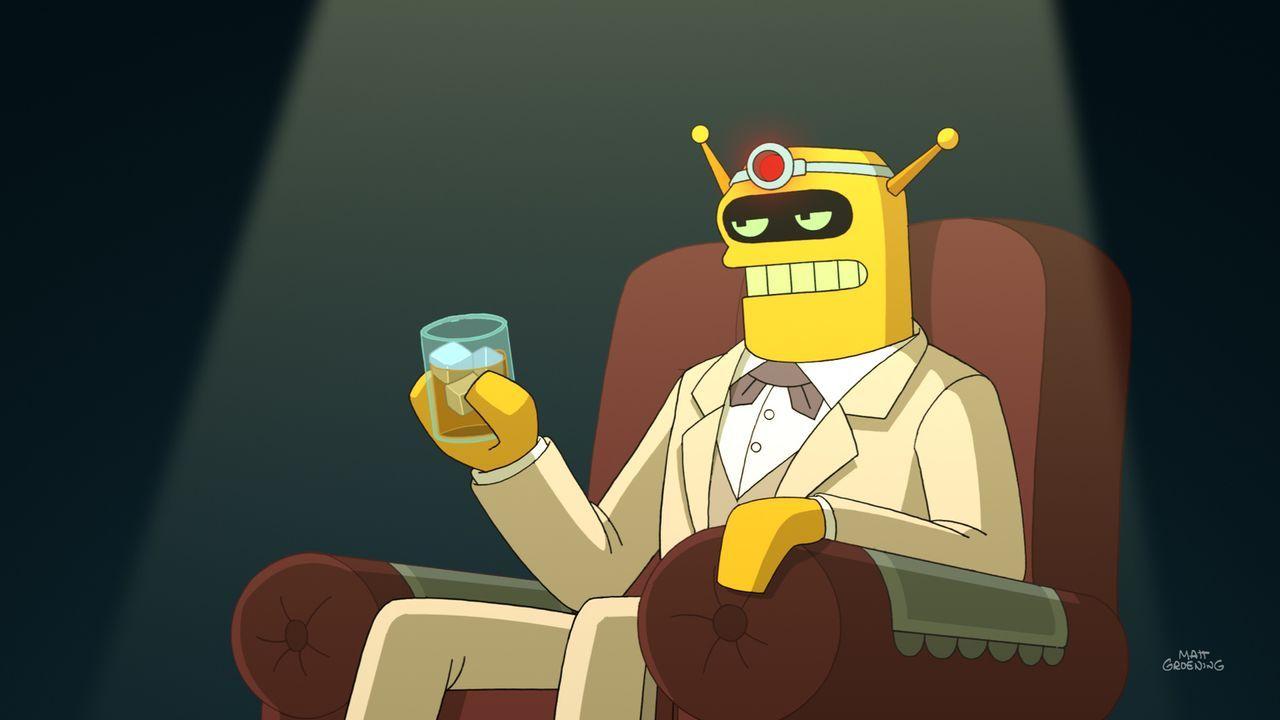 Um Bender und Fry aus ihrer Verzweiflung zu holen, hat Professor Farnsworth eine Lösung parat. Man müsste Calculon nur wiederauferstehen lassen, ind... - Bildquelle: Twentieth Century Fox Film Corporation. All rights reserved.