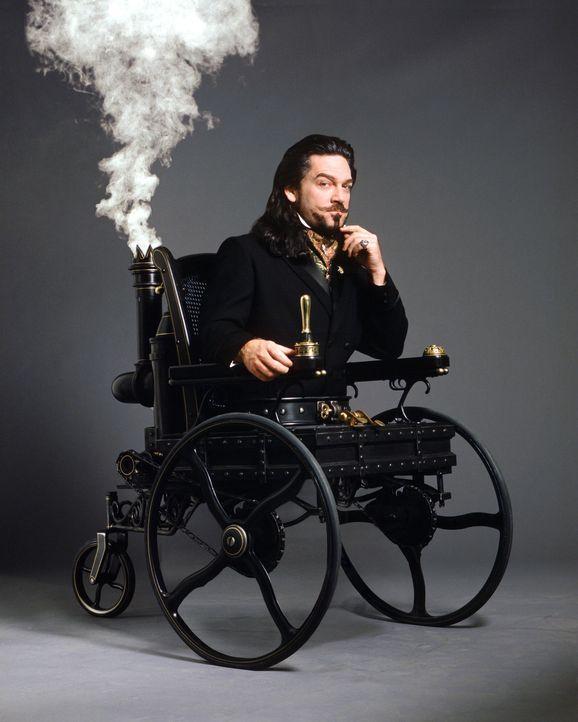 Obwohl an den Rollstuhl gefesselt, hegt der teuflische Dr. Arliss Loveless (Kenneth Branagh) große Pläne. Er will die Welt beherrschen ... - Bildquelle: Warner Bros. Pictures