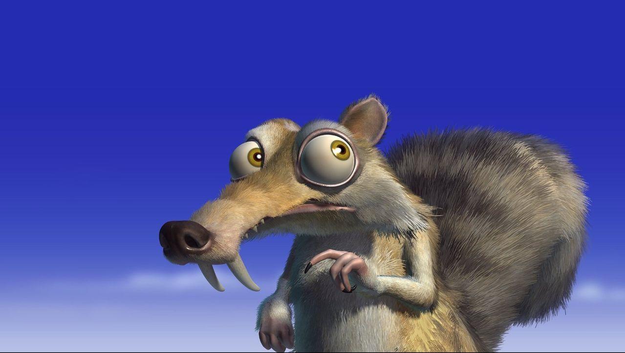Ganz vorsichtig versucht Scrat, endlich an seine wohlverdiente Nuss zukommen, doch immer wenn er kurz davor ist, wird er regelrecht vom Pech verfolg... - Bildquelle: 2002 Twentieth Century Fox Film Corporation.  All rights reserved.