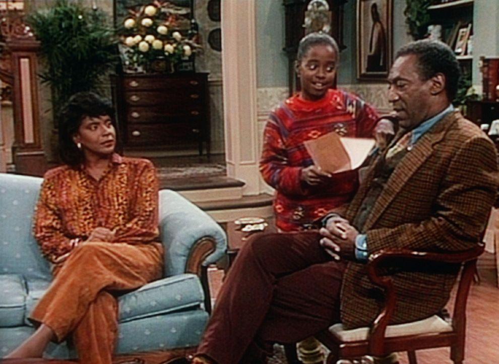 Rudy (Keshia Knight Pulliam, M.) möchte die Erlaubnis ihrer Eltern Clair (Phylicia Rashad, l.) und Cliff (Bill Cosby, r.), einen Eiskunstlaufkurs f... - Bildquelle: Viacom