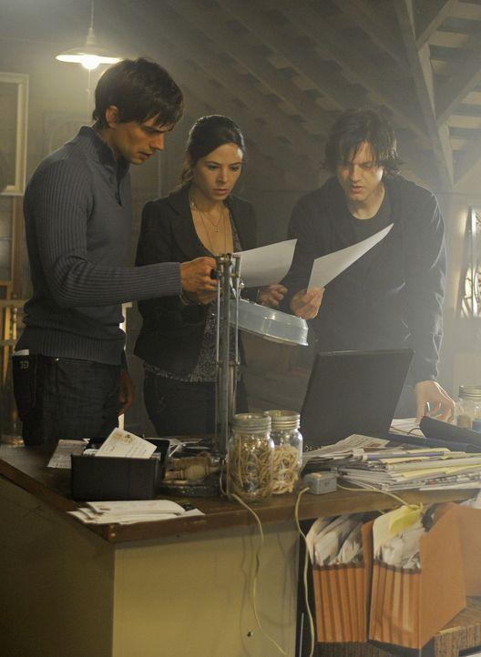 Gemeinsam mit J.D. (Dean Chekvala, r.) machen sich Henry (Christopher Gorham, l.) und Abby (Elaine Cassidy, M.) auf die Suche nach dem Mörder, der... - Bildquelle: 2009 CBS Studios Inc. All Rights Reserved.