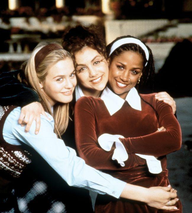 Drei Freundinnen, die wissen, wo es langgeht: Cher (Alicia Silverstone, l.), Tai (Brittany Murphy, M.) und Dionne (Stacey Dash, r.) ... - Bildquelle: Paramount Pictures