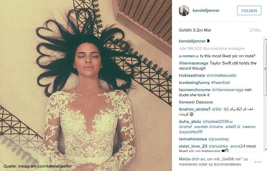 Beliebteste-Instagram-Bilder-2015-kendalljenner-1 - Bildquelle: instagram.com/kendalljenner