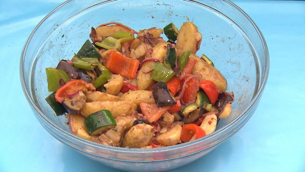 Robertos Menü: Gegrillter Kartoffelsalat