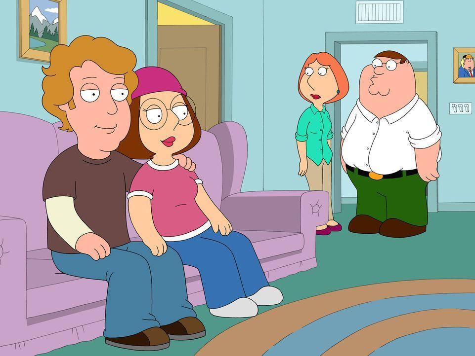 Meg (2.v.l.) hat endlich einen Freund (l.) gefunden, der anscheinend ohne Fehl und Tadel ist. Auch Lois (2.v.r.) und Peter (r.) sind mit Anthony seh... - Bildquelle: 2007-2008 Twentieth Century Fox Film Corporation. All rights reserved.