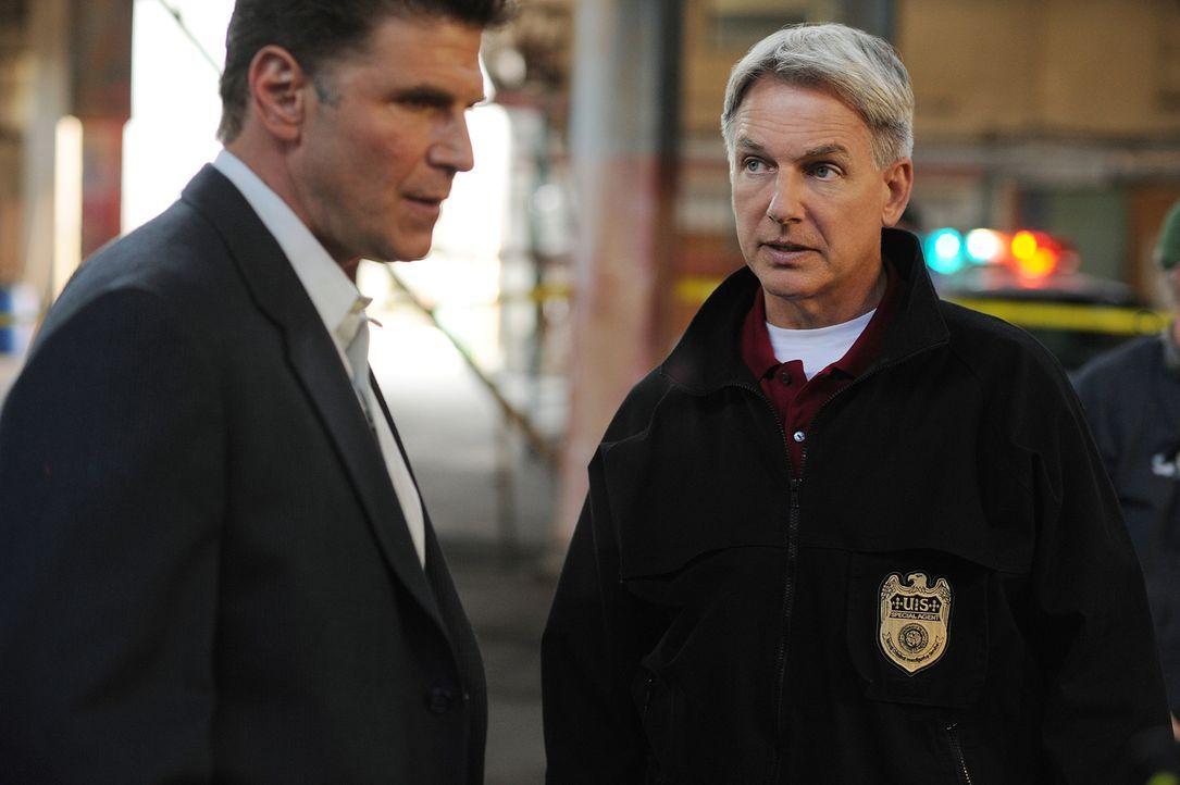 Det. Steve Rosetti (Nick Chinlund, l.) und Gibbs (Mark Harmon, r.) machen sie Sorgen um die Verletzte Ziva .... - Bildquelle: CBS Television