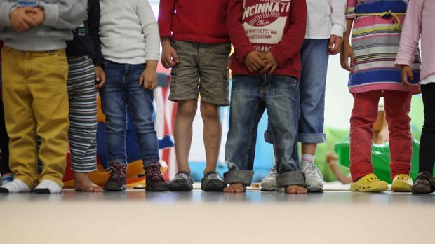 Fluechtlingskinder in einer Kita