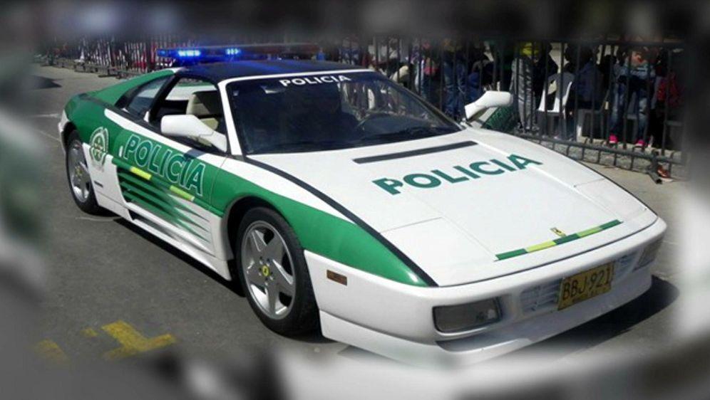 Bild Geschichte - Polizei Ferrari