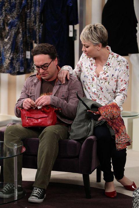 Leonard (Johnny Galecki, l.) hat mit Sheldon ausgehandelt, dass er eine Nacht in der Woche bei Penny (Kaley Cuoco, r.) übernachten darf ... - Bildquelle: Warner Bros. Television