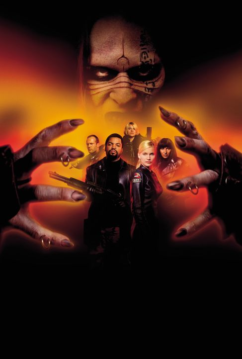 Ghosts of Mars - Artwork mit (v.l.n.r.) Jason Statham, Ice Cube, Clea DuVall, Richard Cetrone (hinten), Natasha Henstridge und Pam Grier ... - Bildquelle: 2003 Sony Pictures Television International. All Rights Reserved.