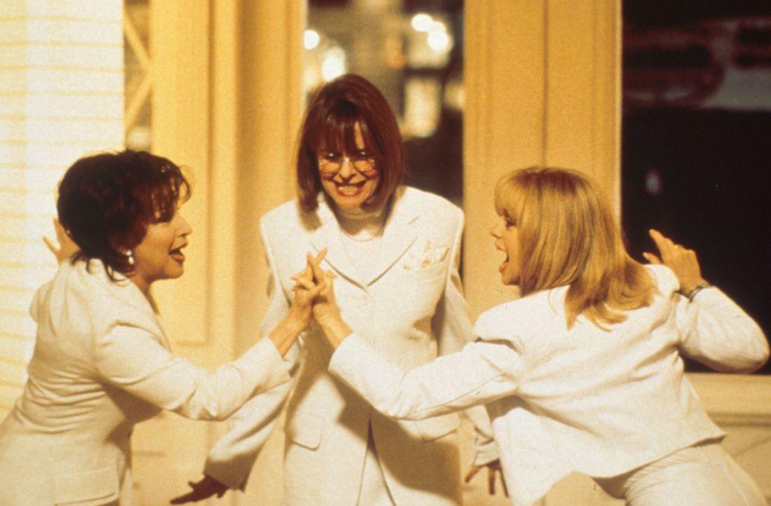Um Rache zu nehmen, gründen Brenda (Bette Midler, l.), Elise (Goldie Hawn, r.) und Annie (Diane Keaton, M.) einen Club, der sich den finanziellen un... - Bildquelle: Paramount Pictures