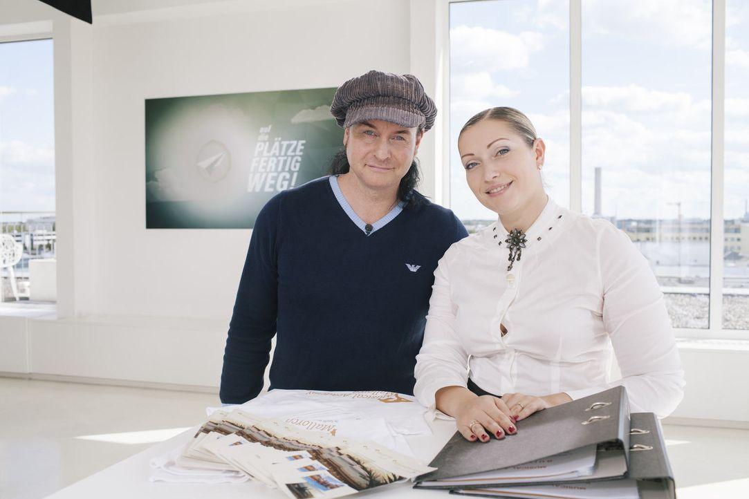 Sascha (l.) und Ganna (r.) wollen auf Mallorca eine Musical-Schule aufmachen. Doch können sie die Jury von ihrer Business-Idee überzeugen? - Bildquelle: Stefan Hobmaier kabel eins