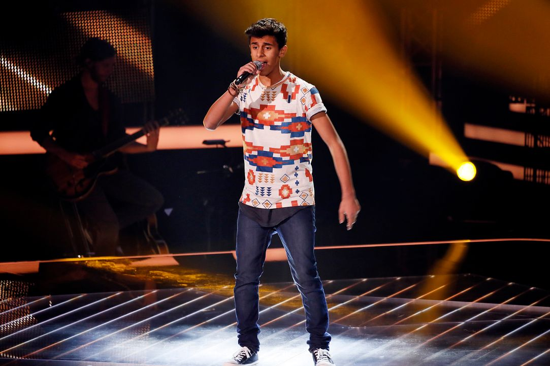 The-Voice-Kids-s04e01-Yassine-SAT1-Richard-Huebner - Bildquelle: SAT.1/ Richard Huebner