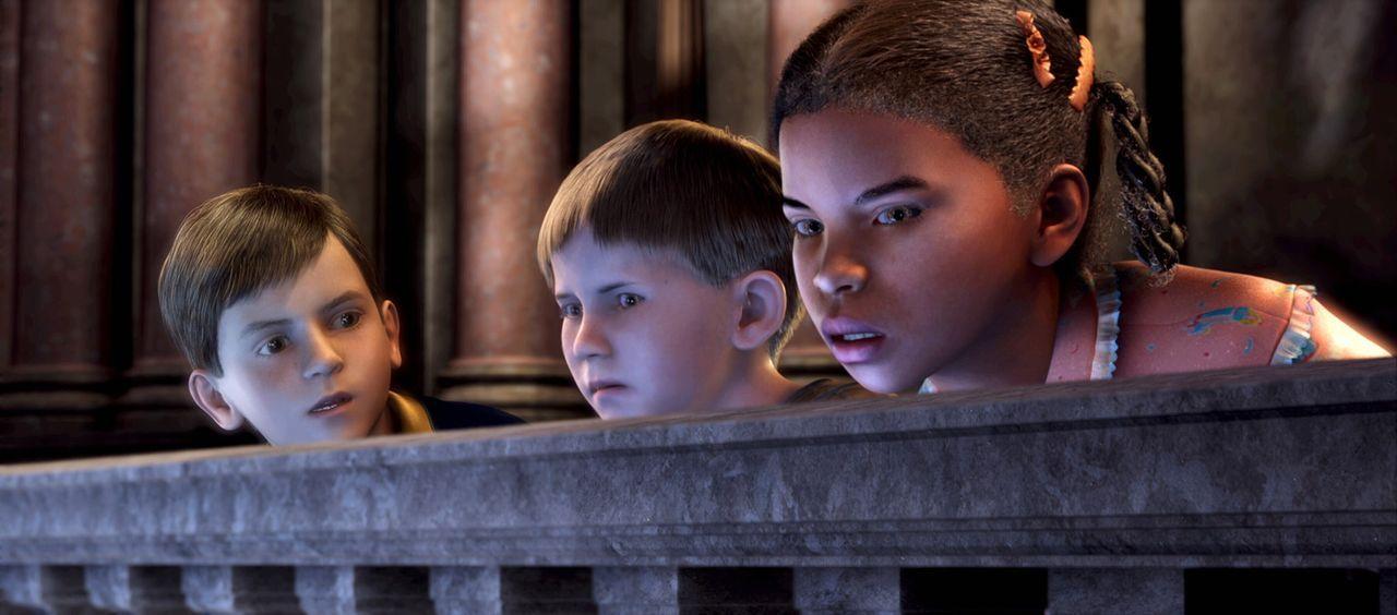 Ehe sie sich versehen, stehen die Kinder Mitten in der Zentrale von der aus die Weihnachtsgeschenke für die Kinder verteilt werden ? - Bildquelle: Warner Bros. Pictures