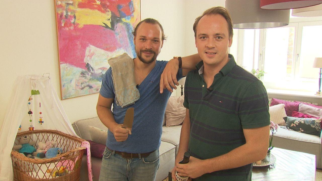 Alex und Daniel sind frischgebackene Väter, doch diese Aufgabe bringt die beiden an ihre Grenzen ... - Bildquelle: kabel eins
