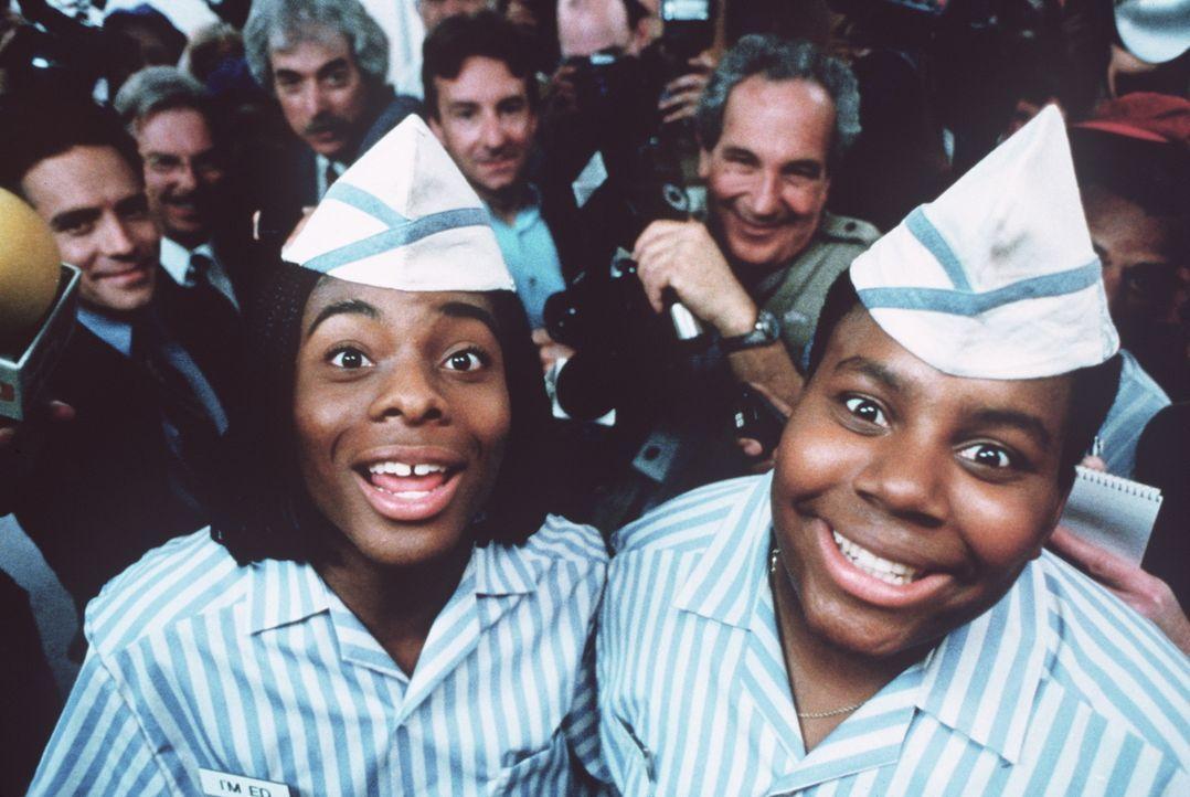 Die beiden Burger-Früchtchen Ed (Kel Mitchell, l.) und Dexter (Kenan Thompson, r.) avancieren zu Medienstars ... - Bildquelle: Paramount Pictures