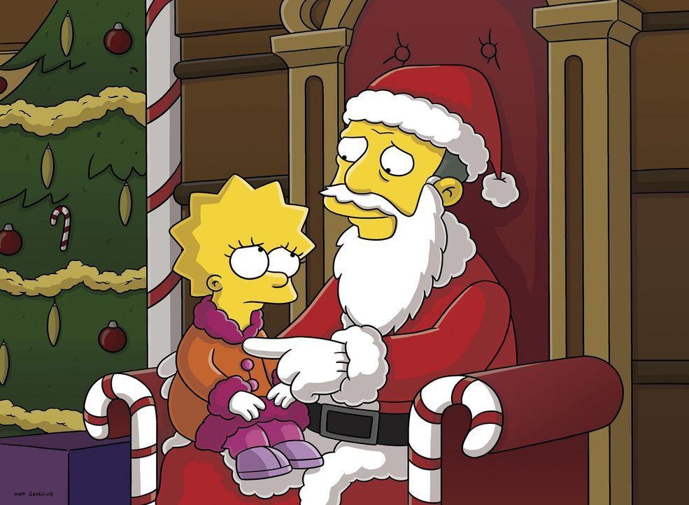 Es ist mal wieder Weihnachten in Springfield und Gil  Gunderson (r.), der Dauerloser, hat sich bei einem Kaufhaus verdingt, um dort als Weihnachtsma... - Bildquelle: 2007FOX BROADCASTING