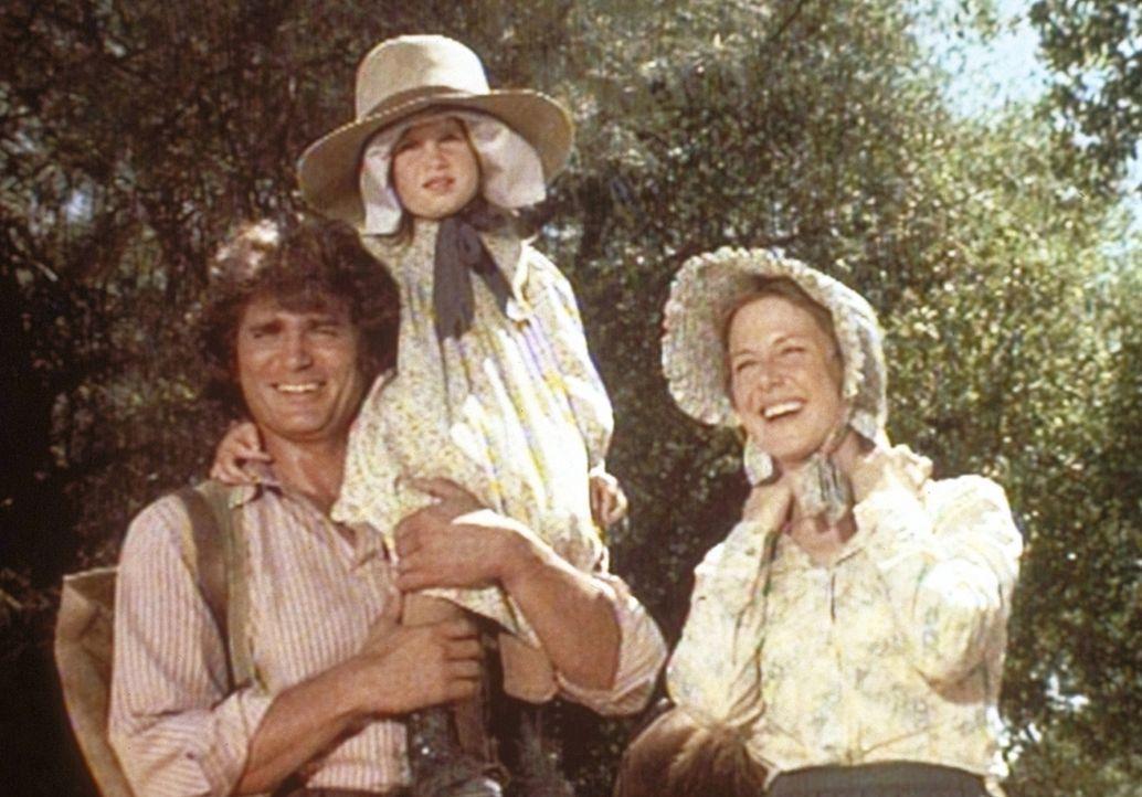 (v.l.n.r.) Charles (Michael Landon), Carrie (Lindsay Sidney Greenbush) und Caroline (Karen Grassle) genießen ihren Ausflug. - Bildquelle: Worldvision