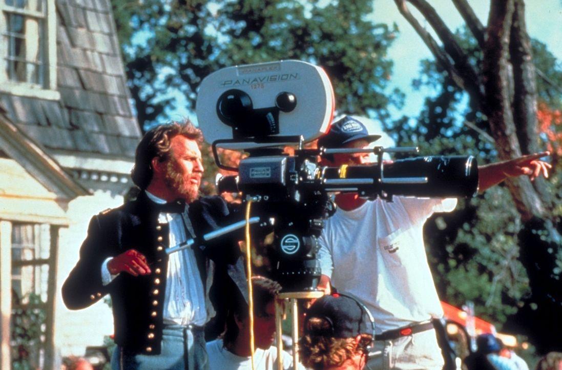 """Dreharbeiten zu dem Film: """"Der mit dem Wolf tanzt"""" ... - Bildquelle: Orion Pictures Corporation"""