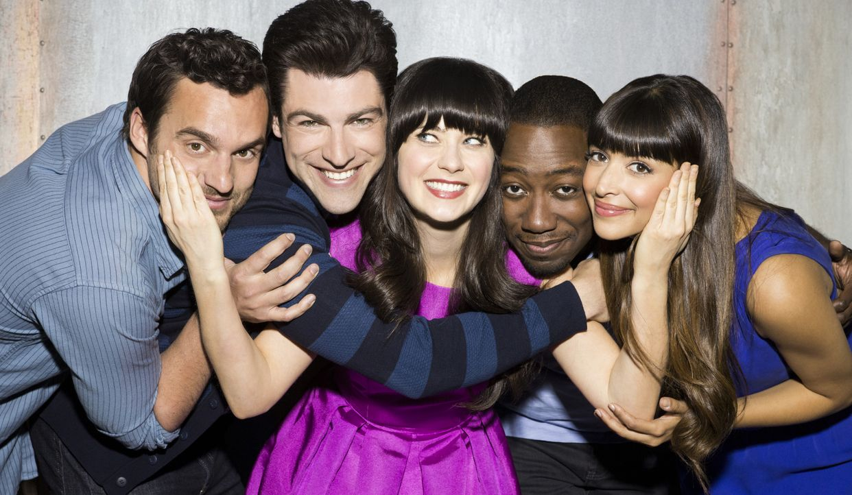 (2. Staffel) - (V.l.n.r.) Nick Miller (Jake Johnson), Schmidt (Max Greenfield), Jessica Day (Zooey Deschanel), Winston Bishop (Lamorne Morris) und C... - Bildquelle: 2012-2013 Twentieth Century Fox Film Corporation. All rights reserved.