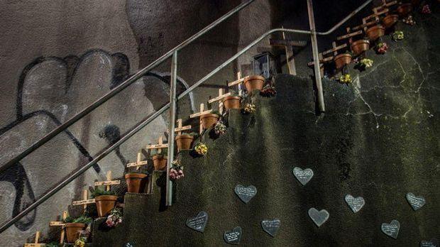 Treppe des Loveparade-Unglücks in Duisburg