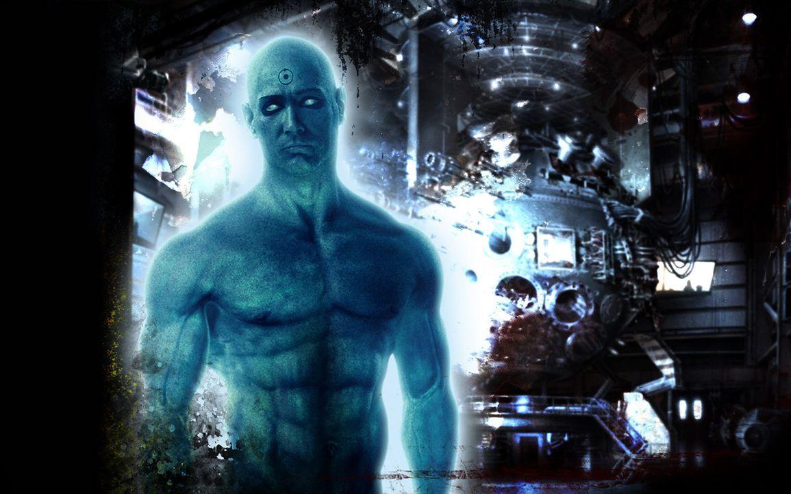 Er ist der einzige Superheld, der über übermenschliche Kräfte verfügt: Dr. Manhattan (Billy Crudup) besitzt die Gabe der Transmutation, der Tele... - Bildquelle: Paramount Pictures