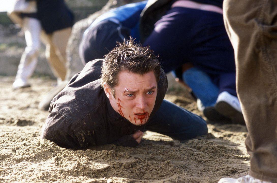 """Durch Shannons Schwager Pete wird Matt (Elljah Wood) Teil der """"Green Street Elite"""", der Untergrund-Fanorganisation des Westham United FC. Er rutscht... - Bildquelle: Odd Lot Entertainment"""