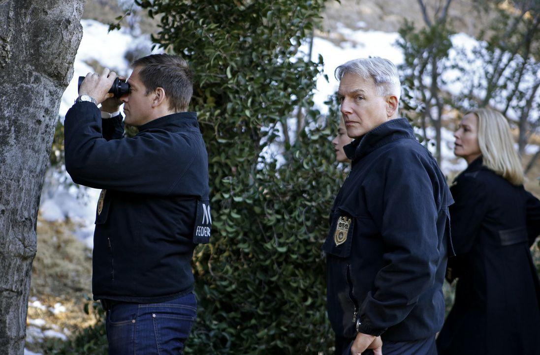 Das Team, darunter Special Agent Anthony DiNozzo (Michael Weatherly, l.) und Gibbs (Mark Harmon, M.), schließen sich dem Ministerium für Verteidigun... - Bildquelle: CBS Television