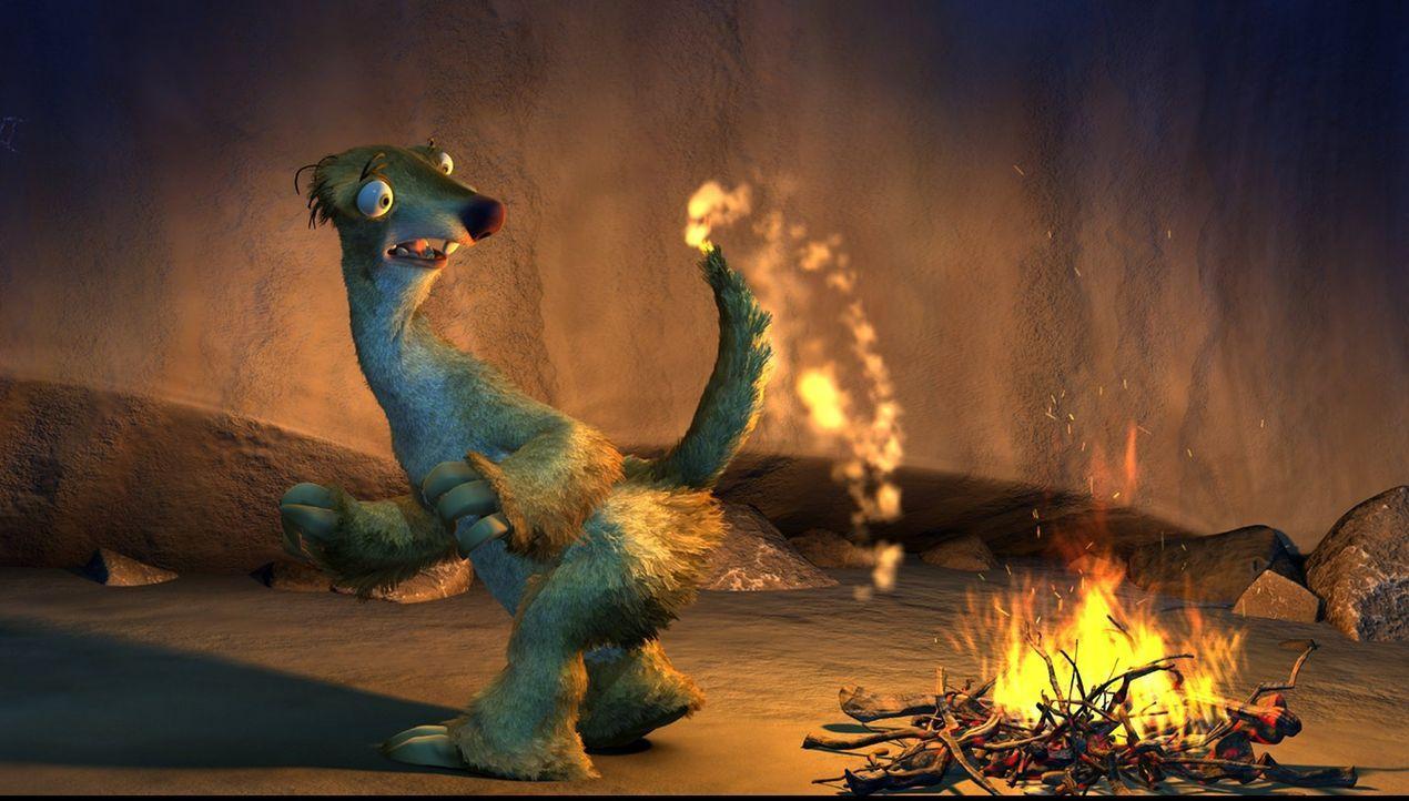 Gemeinsam mit dem Mammut Mani und dem Säbelzahntiger Diego möchte Sid (Foto) den Säugling zu seiner Familie zurückbringen. Doch auf der Reise gerät... - Bildquelle: 2002 Twentieth Century Fox Film Corporation.  All rights reserved.