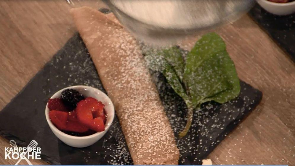 Maronen Crepes mit Obst und Ricotta