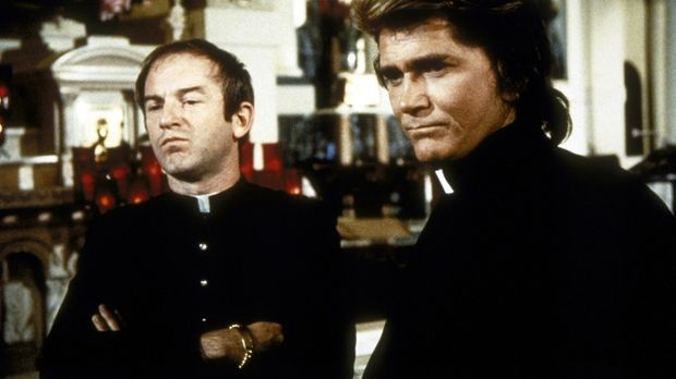 Charley (John Pleshette, l.) und Jonathan (Michael Landon, r.), ebenfalls als...