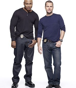 Special Agent G. Callen (Chris O'Donnell, r.) und Special Agent Sam Hanna (LL...