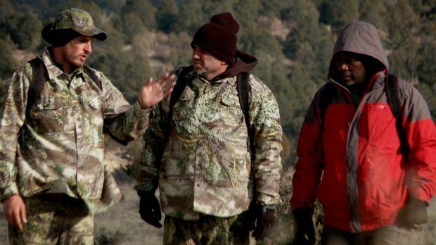 In New Mexiko müssen sich Kayne Raymond (l.), Michael Psilakis (M.) und Madis...