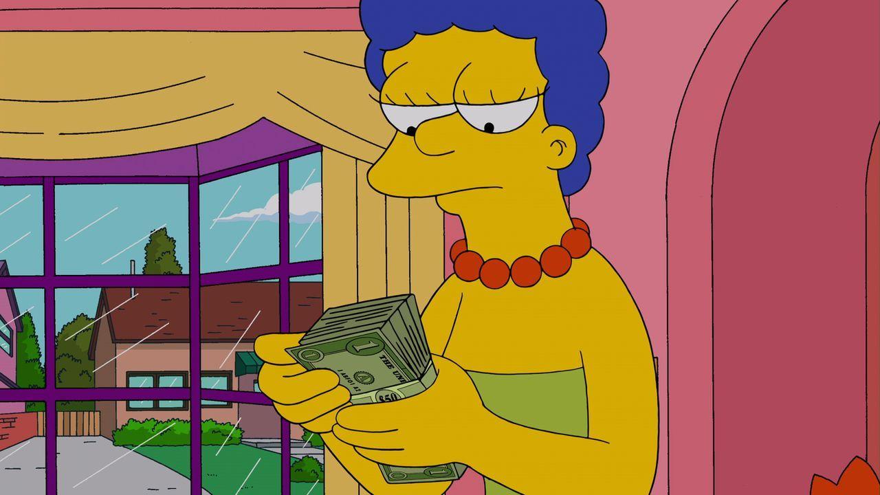 Marge muss feststellen, dass die Menschen in der Textilreinigung aus Versehen ihr Hochzeitskleid mit einem von Krustys Kostümen vertauscht haben ... - Bildquelle: und TM Twentieth Century Fox Film Corporation - Alle Rechte vorbehalten